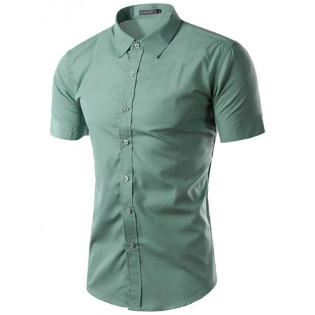 7e273ff3fc Camisa Social Masculina Casual Manga Curta Varias Cores Estampa Lisa
