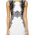 Vestido Branco Floral Elegante Curto