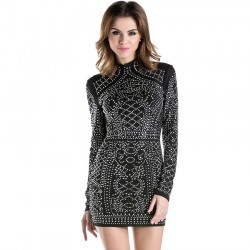 Diamond Dress Black Short Elegant Party and Ballad