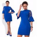 Gown Blue Ideal For Graduation Party Manga Boemia Social Plus Size