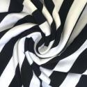 Dress Female Striped Fashion Black and White Beach Casual Plus Size