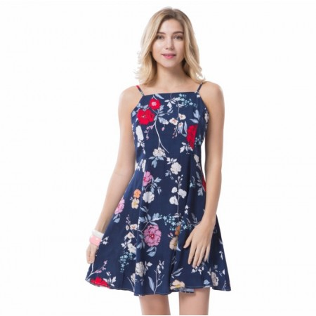 Women's Casual Dress Beach Casual Print Floral Print with Strap Lightweight Skirt