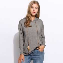 Women's Long Sleeve Tops Blue and Gray Long Sleeve