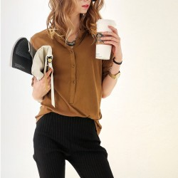 Women's Casual Button Down Shirt Fashion Casual Long Sleeve Casual