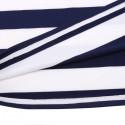 Vestido Listrado Casual Curto Branco Moda Praia Feminina