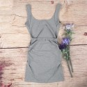Women's Short Dress Inverse Neckline Gray Party and Ballad Social Club
