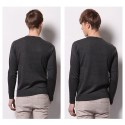 Men's Wool T-shirt Fashion Winter Long Sleeve Sweater Pullover