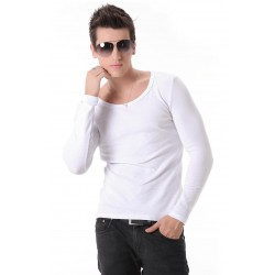 Long Sleeve V-neck Men's Casual Plus Size Sizes Large