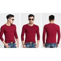 Men's Long Sleeve Casual T-Shirt Lisa Gola Careca Plus