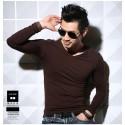 Men's Long Sleeve Casual T-Shirt Lisa Gola Careca Plus