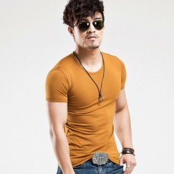 Men's Basic T-Shirt Cold Knit Without Stamps Various Colors Cotton