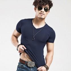 Camiseta Básica Masculina Malha Fria Sem Estampa Varias Cores Algodão