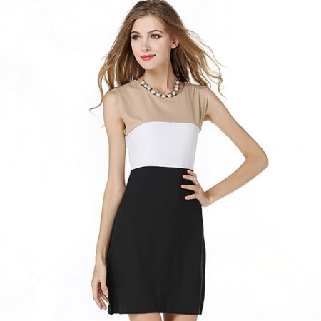 Dress Female Elegant Short flaps in Black and White
