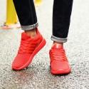 Tênis Vermelho Casual Masculino Esporte Basquete Flexível Ortopedico