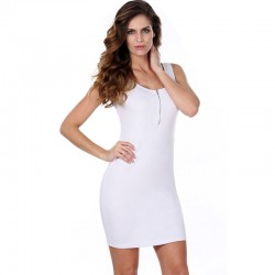 White Dress Formal Work Short Elegant