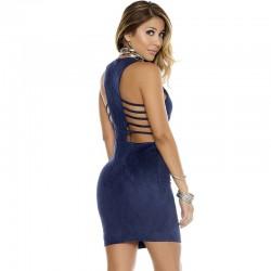 Vestido Feminino Azul Curto Tamanho Único