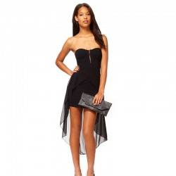 Dress Black Mermaid Neckline with Elegant strapless