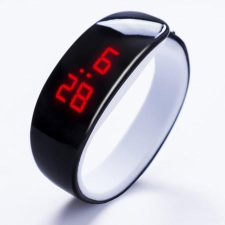 Relogio Bracelete LED Digital Moderno Futurista Oval Treino Fitness