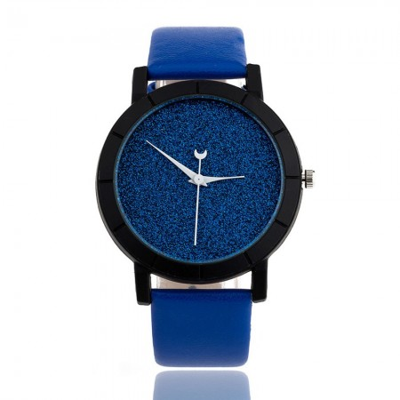 Colorful Moon Unisex Watch Casual Modern Quartz Display without Numerals