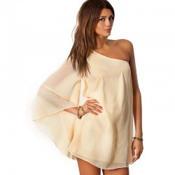 Chiffon Dress Luxury Silk Short Women's Winter Fashion