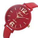 Relógio Feminino Geneva Numeros Grandes Pulseira Fina Redondo