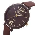 Clock Female Geneva Large Numbers Bracelet Thin Round