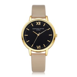 Women's Golden Watches Stylish Modern Women's Luxury Puceira Leather