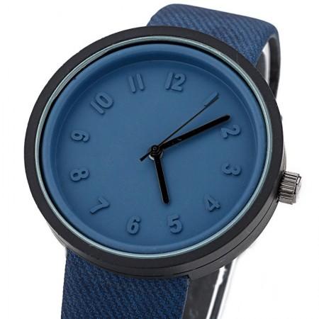 Watches Bracelet Fabric in Jeans Quartoz Display Round Unisex