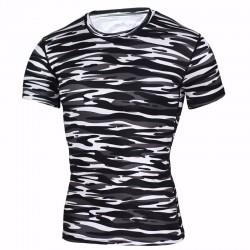 Men's Basic T-Shirt Army Camouflage Short Sleeve T-Shirt