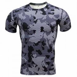 Camiseta Masculina Básica Manga Curta Estampa Camuflada Exercito