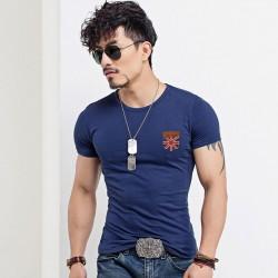Camiseta Masculina Básica Lisa Malha Fria em Algodão Varias Cores