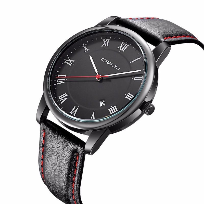 Relógios Masculino Preto Cerâmica Esporte Quartzo Pulseira de Couro d26af0f465
