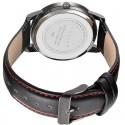 Mens Watches Black Ceramic Sport Quartz Leather Bracelet