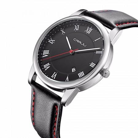 a3c1dabe65a Relógios Masculino Preto Cerâmica Esporte Quartzo Pulseira de Couro