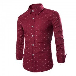 Social Men's Casual Shirt Small Red Button Angoras
