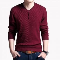 Camiseta de Frio Masculina Malha Caximira Moda Inverno Pullover Sueter