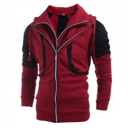 Men's Hooded Jacket Fashion Winter Zipper in Beautiful Cotton