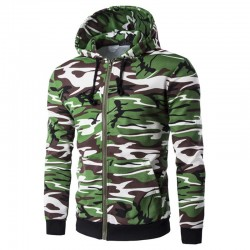 Rain Jacket Ziper Sweatshirt and Hooded Green Army Hooded