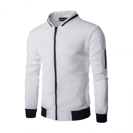 Hooded jacket with zipper Cold with Quilted Jacket Stylish