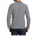 Striped Long Sleeve Casual Men's T-shirt Fashion Winter
