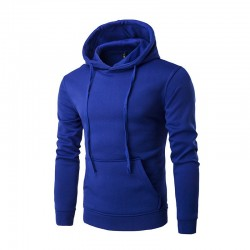 Men's Casual Sweatshirt with Hood Smooth Training School Elastic Sleeve