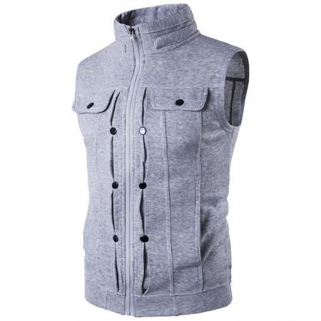 Men's Sport Jacket Sport Zipper Training Sweatshirt High Collar