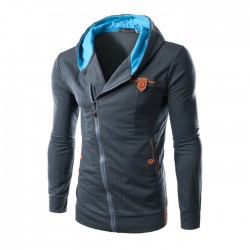 Stylish Casual Men's Sweatshirt with Zipper