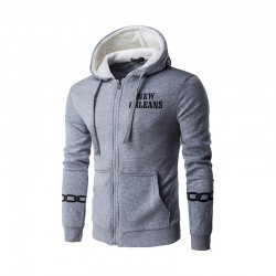 NEW ORLEANS Hooded Sweatshirt with Elegant Zipper Lining
