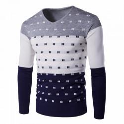 Geek Shirt Men's Colorful Striped Winter Long Sleeve