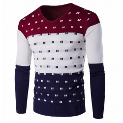 Geek Shirt Men's Colorful Striped Winter Long Sleeve