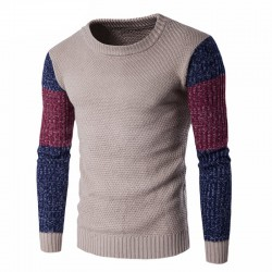 Camisa Grossa Masculina de Inverno Suéter Manga Longa Tricotada Frio