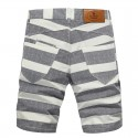 Bermuda Men's Striped Summer Gray and Blue Beach