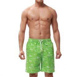 Bermuda Masculina Listrada Estampada Moda Praia Curto