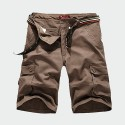 Men's Casual Military Loose Shorts with Wide Pockets on the Side
